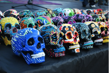 Decorated calaveras