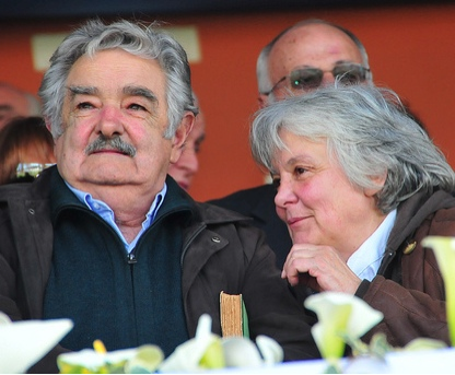 Mujica with his wife Lucía Topolansky